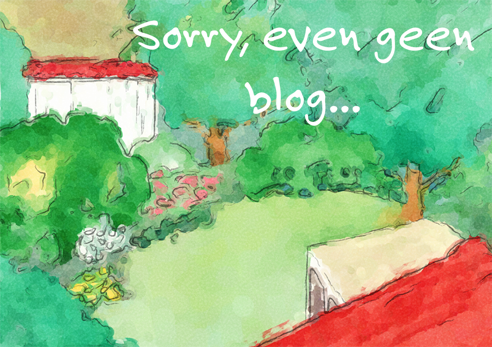 Sorry, even geen blog